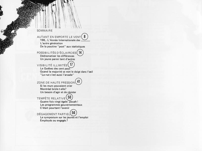 Sommaire, Ciel variable 1, p.6. © Tous droits réservés
