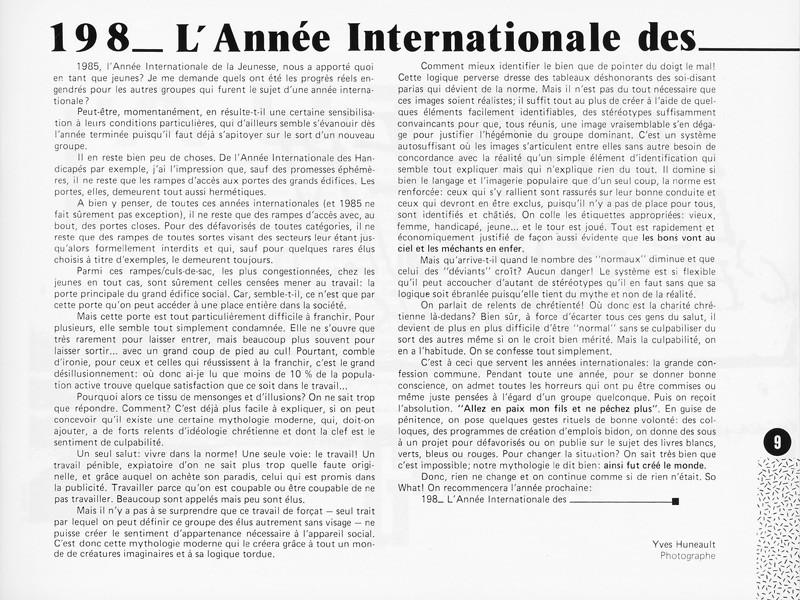 Yves Huneault, L'Année Internationale des..., Ciel variable 1, p.9. © Tous droits réservés