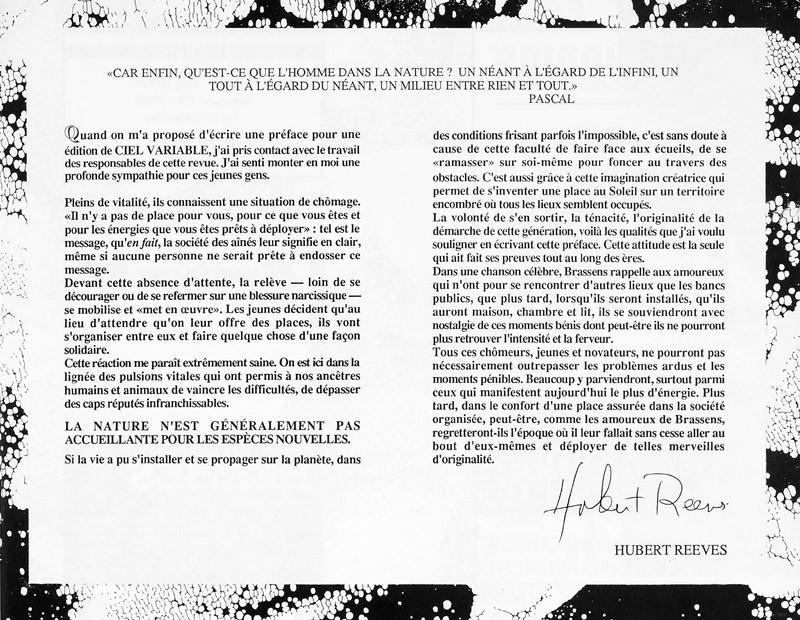 Hubert Reeves, Ciel variable 2, p.7. © Tous droits réservés