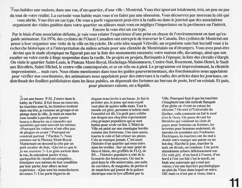 Michel Lefebvre, Montréal en 4 heures, Ciel variable 11, p.10. © Tous droits réservés