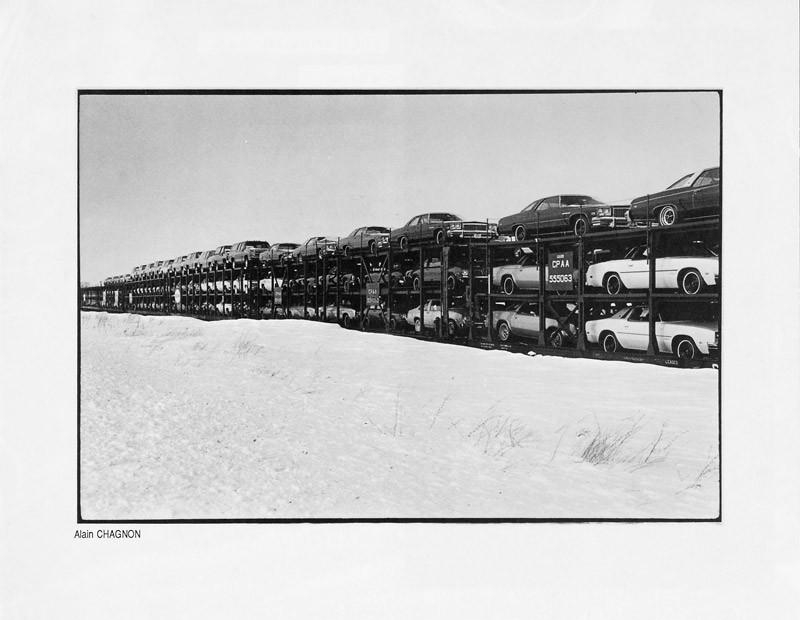 Photo: Alain Chagnon, Train de vie, Ciel variable 2, p. 23. © Tous droits réservés