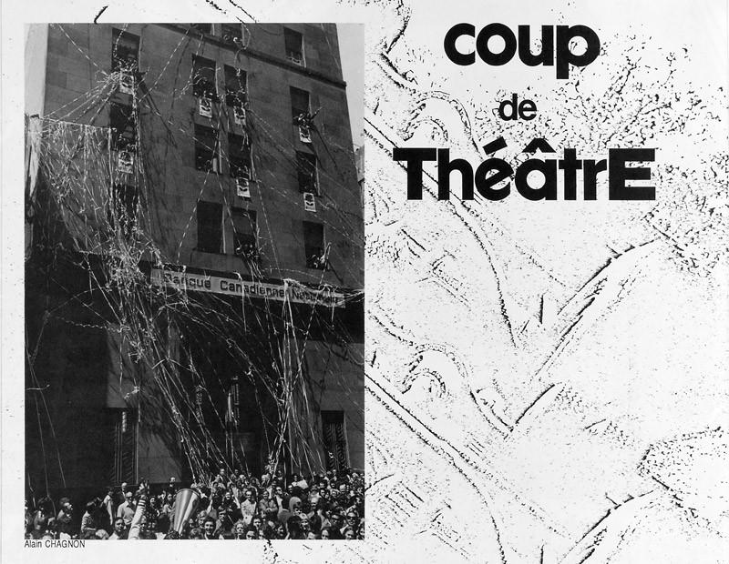 Photo: Alain Chagnon, Coup de théâtre, Ciel variable 2, p. 26. © Tous droits réservés