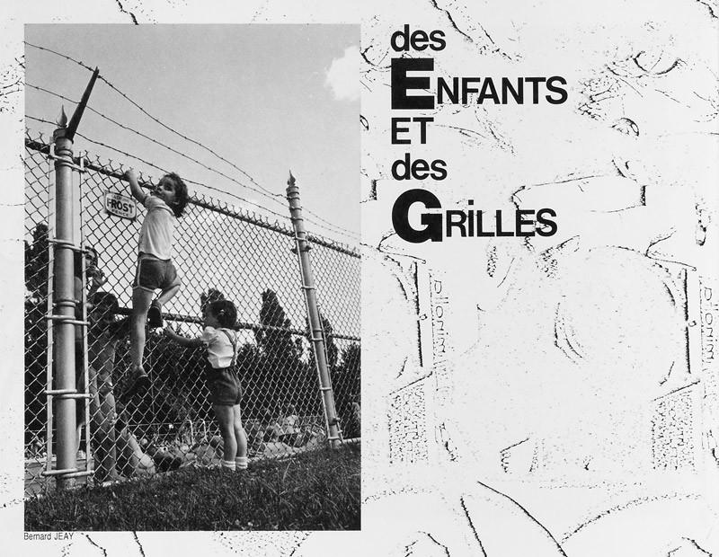 Photo: Bernard Jeay, Des enfants et des grilles, Ciel variable 2, p.30. © Tous droits réservés
