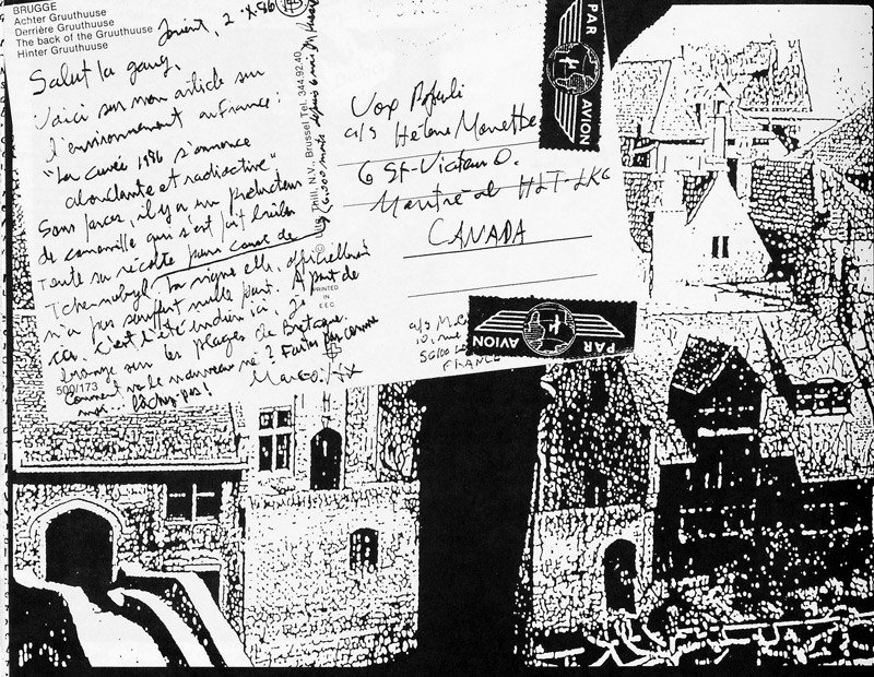 Carte postale, Inconnu: Derrière Bruuthuuse, Bruges, Ciel variable 2, p.50. © Tous droits réservés