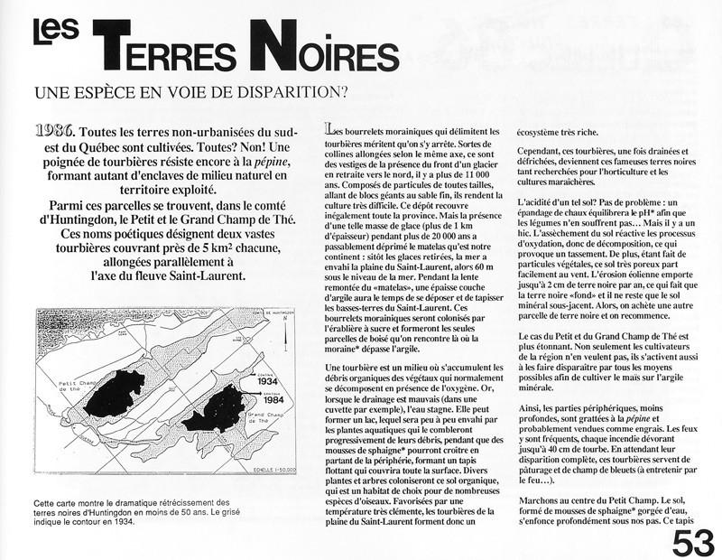 Michèle Laframboise, Les terres noires, Ciel variable 2, p.53. © Tous droits réservés