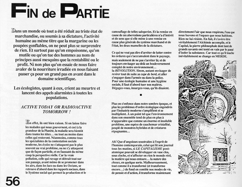 Éric Michaud, Fin de partie, Ciel variable 2, p.56. © Tous droits réservés