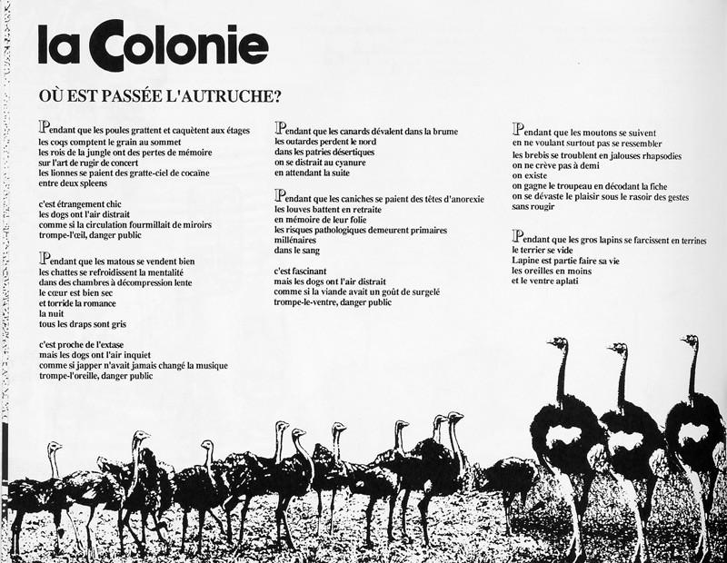 Hélène Monette, La colonie, Ciel variable 2, p.60. © Tous droits réservés