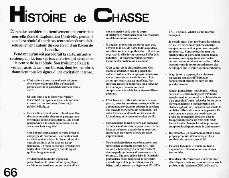 Michèle Laframboise, Histoire de chasse, Ciel variable 2, p.66. © Tous droits réservés