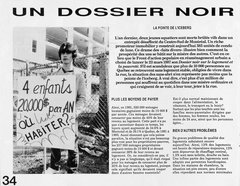 Robert Pilon, Un dossier noir, Ciel variable 3-4, p.34. © Tous droits réservés