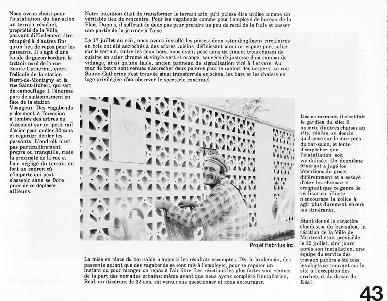 Projet Habritus inc., L'abri à l'ère de l'installation, Ciel variable 3-4, p.43. © Tous droits réservés
