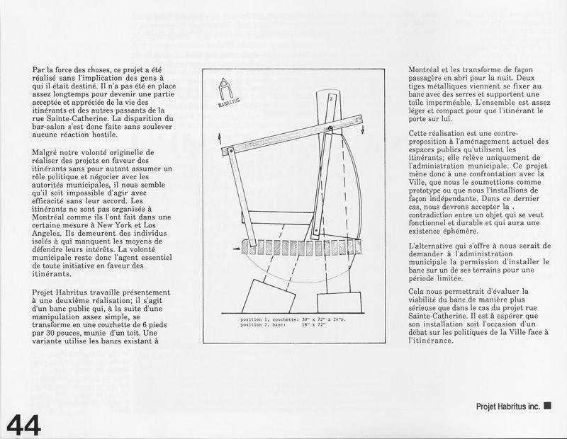 Projet Habritus inc., L'abri à l'ère de l'installation, Ciel variable 3-4, p.44. © Tous droits réservés