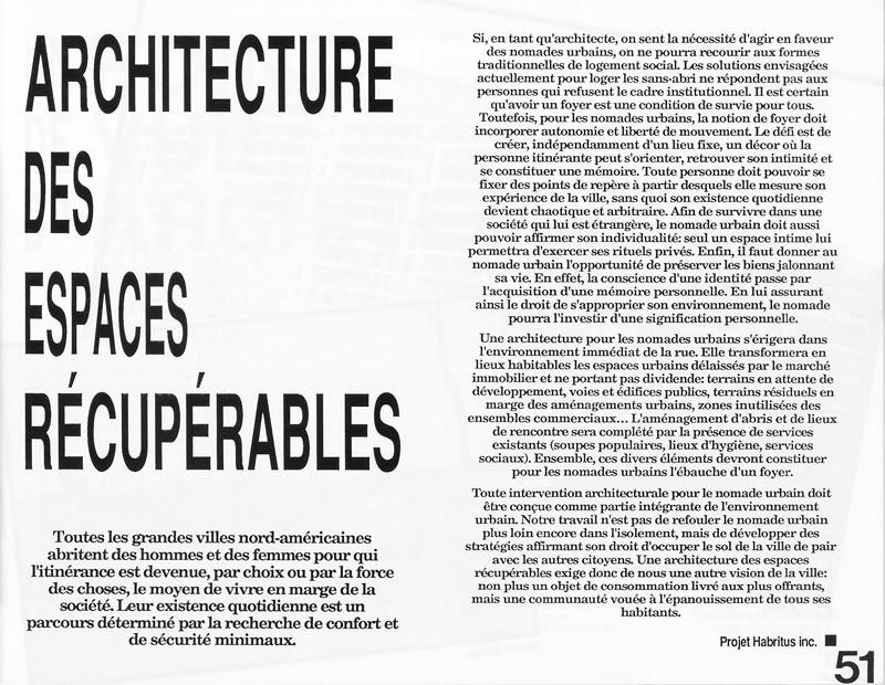 Projet Habritus inc., Architecture des espaces récupérables, Ciel variable 3-4, p.51. © Tous droits réservés