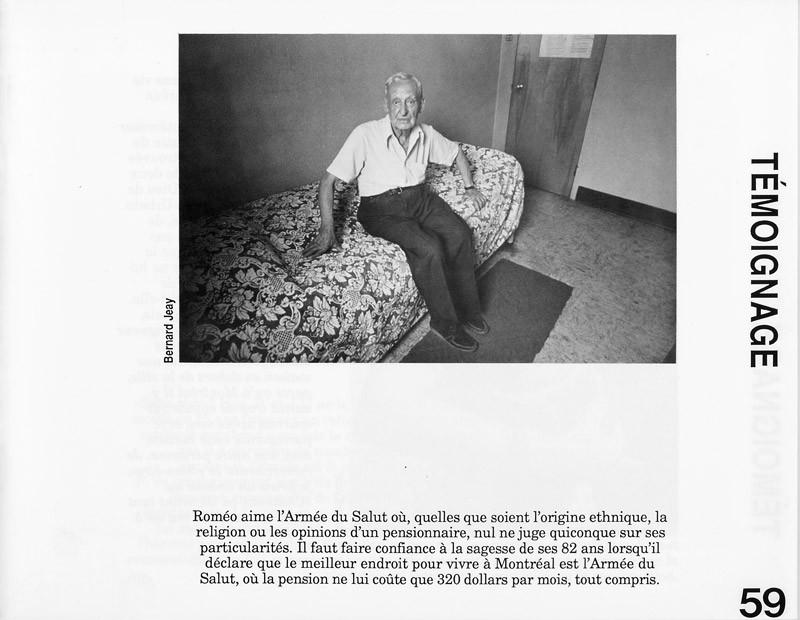 Photo: Bernard Jeay. Témoignages, Ciel variable 3-4, p.59. © Tous droits réservés