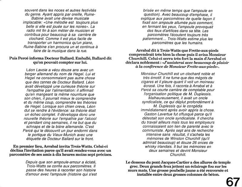 Pierre-Michel Tremblay, La tache orange, Ciel variable 3-4, p.67. © Tous droits réservés