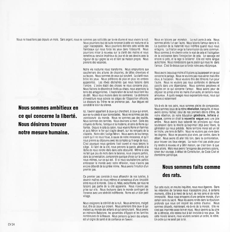 Marie-Hélène Montpetit, Manifeste de l'errance, Ciel variable 05, p.24. ©Tous droits réservés