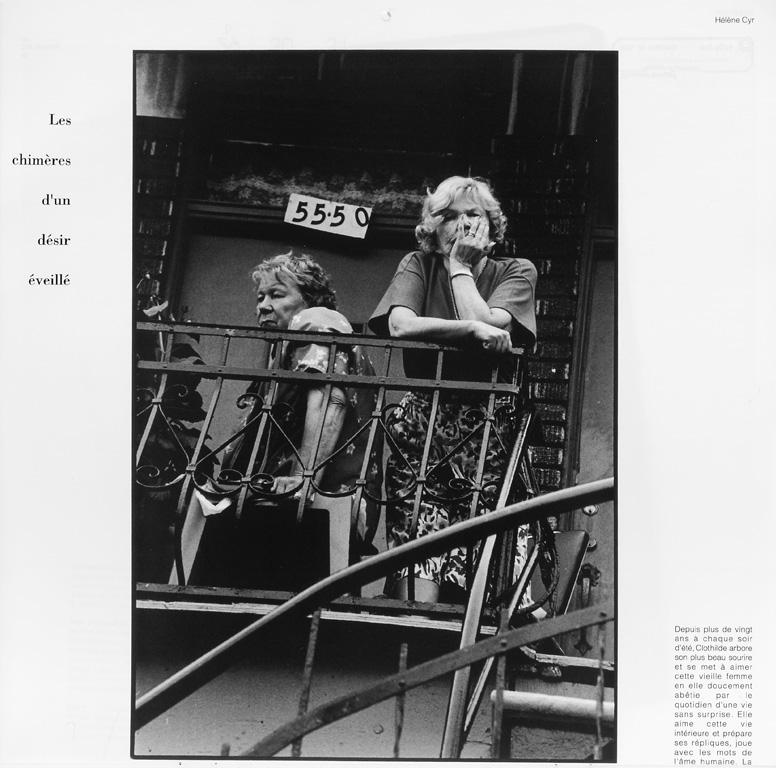 Photo: Hélène Cyr. Guy Ménard, Les chimères d'un désir éveillé (août), Ciel variable 10, p.20. © Tous droits réservés