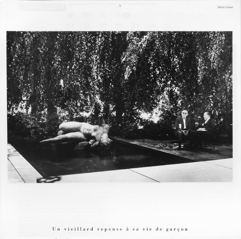 Photo: Michel Gravel. Yves Boivert, Un vieillard repense à sa vie de garçon (novembre), Ciel variable 10, p. 26. © Tous droits réservés