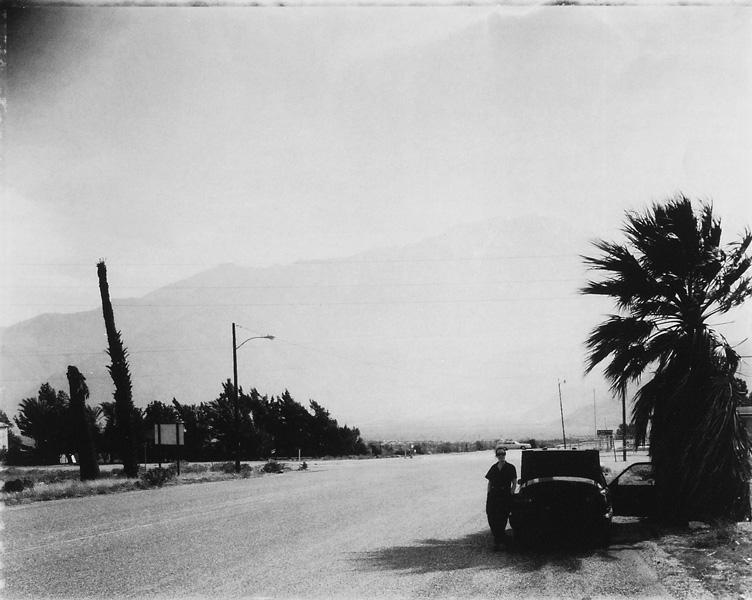 Marc Rudewel, On the way to Joshua Tree with Corrine, South California. © Marc Rudewel