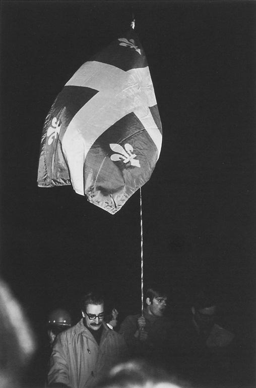 Guy Turcot, Manifestation contre le bill 63 devant le Parlement de Québec, octobre 1969. ©Guy Turcot