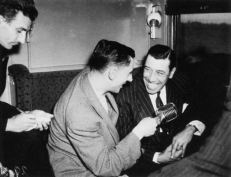 Roméo Gariépy, Roger Baulu et Fernandel, 1948. ©Roméo Gariépy