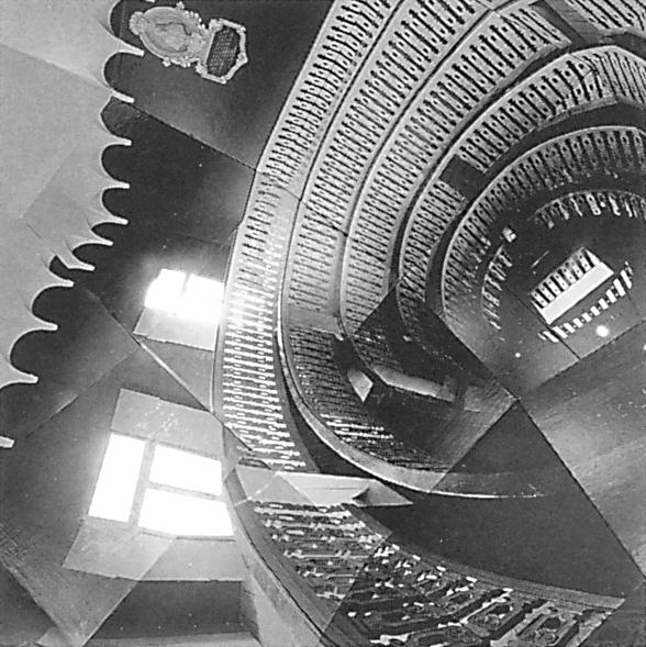 Alain Paiement, Détail de l'installation Anatomique, 1988 (papier photographique, bois, métal, polyester, 245 x 270 cm). ©Alain Paiement