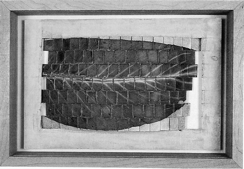Roberto Pelligrinuzzi, Matrice pour Le Chasseur d'images (détail), 1991, élément végétal, carton et bois, 21.5 x 31.5 cm. © Roberto Pellegrinuzzi