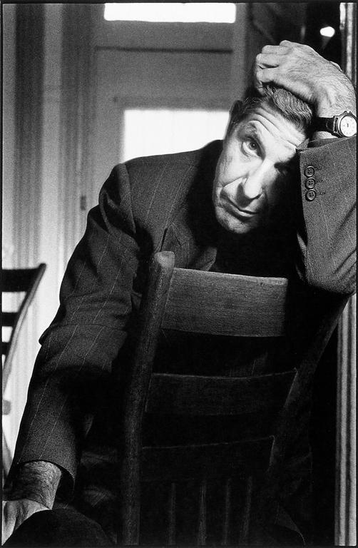 Jean-François Bérubé, Leonard Cohen, 1992. © Jean-François Bérubé
