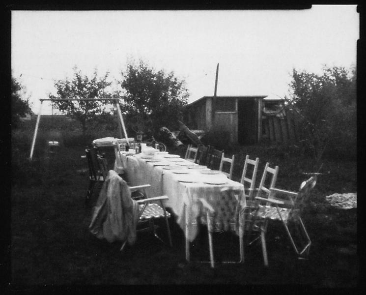 Michel Lamothe, Camera obscura n°2 (détail), 1984, épreuves argentiques reproduites par contact. ©Michel Lamothe