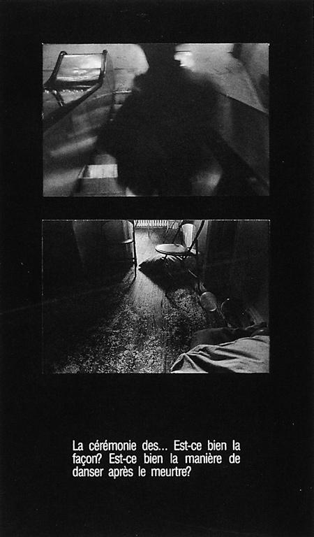 Jean-Jacques Ringuette, Gérald Gaudet (pour la fiction poétique), de la série « Il y a des royaumes qui nous sont à jamais interdits », séquence 2 - panneau 2, 1988, épreuves argentiques virées sépia avec texte sérigraphié. ©Jean-Jacques Ringuette et Gérald Gaudet