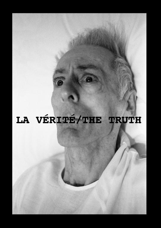 Marcel Blouin, La Vérité / The Truth, 1995, tirée de la série Dans la rue / In the street, projet d'affiches réalisée avec les membres de l'Atelier VOX dans le cadre du Mois de la Photo à Montréal 1995. ©Marcel Blouin