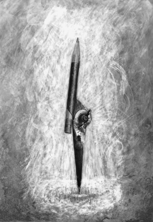 Allan Edgar, Raison d'être (Avoir le compas dans l'oeil), épreuve argentique, virage sélectif, 230 x 102 cm, 1997. © Allan Edgar