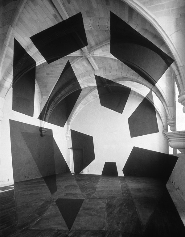 Georges Rousse, St-Savin, 1996. © Georges Rousse