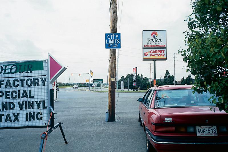 Marlene Creates, Elements of the series Entering and Leaving St. John's, Newfoundland, 1995.© Marlene Creates