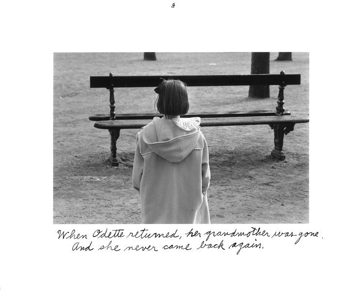 Duane Michals, Élément de la série Grandmother and Odette visit the park. © Duane Michals