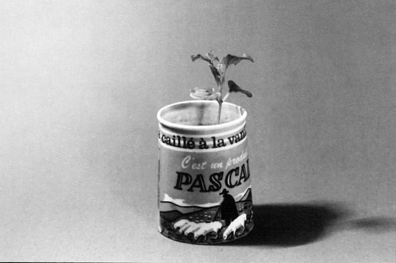 Joachim Mogarra, Paysage aux Yaourts, 1994, épreuve argentique. Courtoisie : Galerie George-Philippe et Nathalie Vallois, Paris. ©Joachim Mogarra