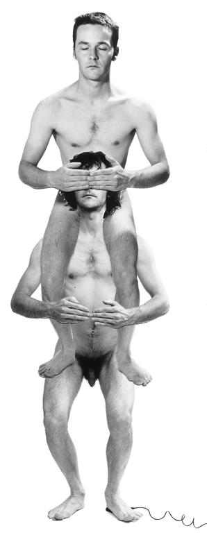 Carl Bouchard, Se voir en amour, deux autoportraits. Mise au point : Steven Ferlatte, 4 épreuves infographiques en couleur, extrait, 1997. ©Carl Bouchard