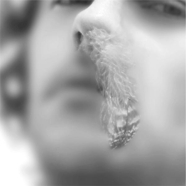 Carl Bouchard, Mon amour, autoportrait. Prise de vue : Nicholas Pitre. Infographie : Sébastien Dion et Carl Bouchard, 4 épreuves infographiques en couleur, extrait, 1997. ©Carl Bouchard