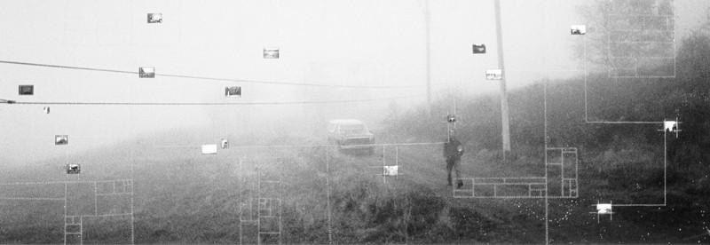 Nathalie Caron, de la série Les Éperlands, les au revoir, 1996, montage, épreuve couleur, épreuve argentique. ©Nathalie Caron