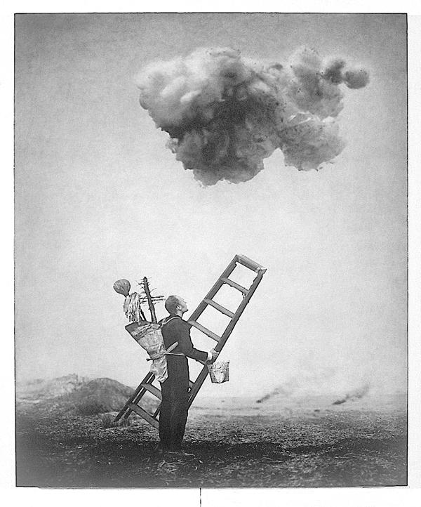 Robert ParkeHarrison, Cloud Cleaner I, 118,7 x 98,4 cm, épreuve argentique, média mixte, montée sur panneau, 1999. ©Robert ParkeHarrison