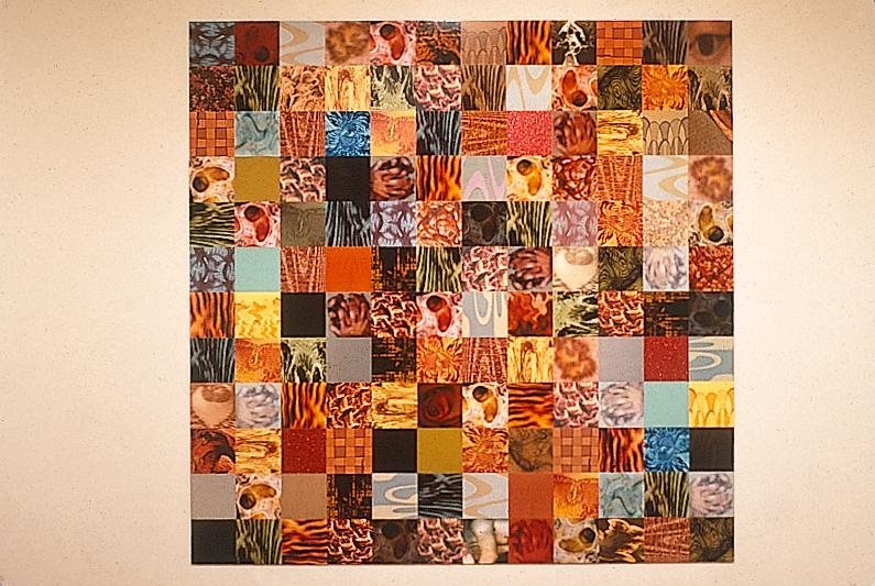 Nicolas Baier, Fracture, 1997, 144 impressions par sublimation, montées sur acier galvanisé, 96 x 96 pouces. © Nicolas Baier