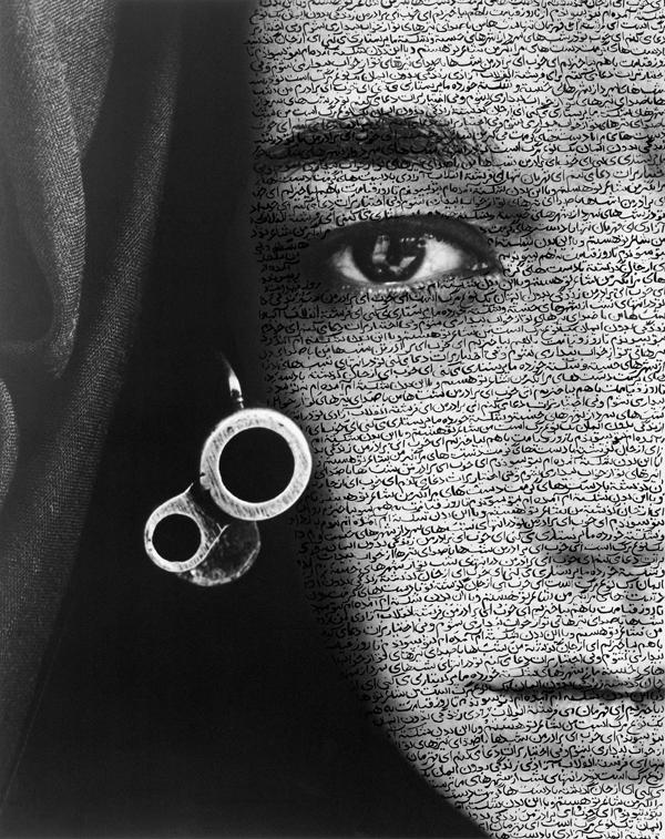 Shirin Neshat, Speechless, 1996, silver print 119 x 84 cm. ©Shirin Neshat / photo: Larry Barns, courtesy of Barbara Gladstone