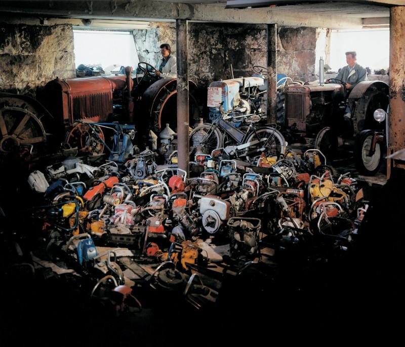 Veli Granö, Erkki Kahru, Eero Karhu, Old Tractors, Chainsaws, Agricultural Machines, colour print from the series Tangible Cosmologies, 1993-1996. ©Veli Granö
