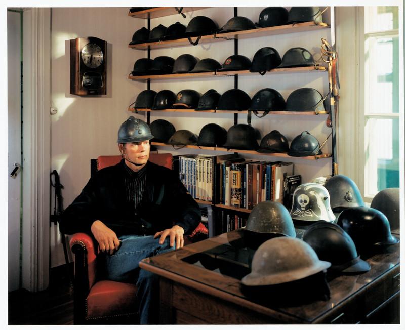 Veli Granö, Jaakko, Army Helmets, colour prints from the series Tangible Cosmologies, 1993-1996. ©Veli Granö