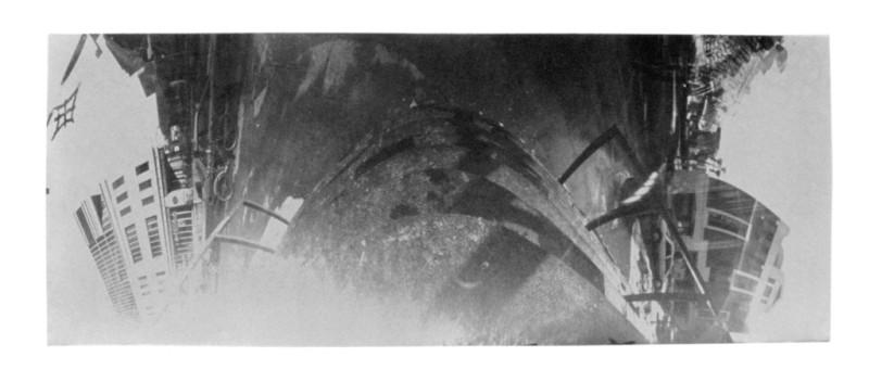 Jean-Philippe Lemay, Escalier, 1999, 27 x 62 cm, van dyck brown sur papier stonehenge. © Jean-Philippe Lemay