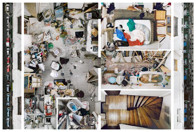 """Alain Paiement, F 3 / Living Chaos, 2001, impression Lambda Ilfoflex sur plastique (""""Sintra""""), 280 x 350 cm. © Alain Paiement"""