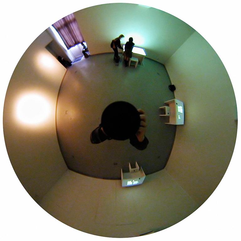 Luc Courchesne, 00 / 11 / 11 1 – Kyoto, 2000-2001, de la série Journal panoscopique, photographies numériques, 25 cm de diameter. © Luc Courchesne
