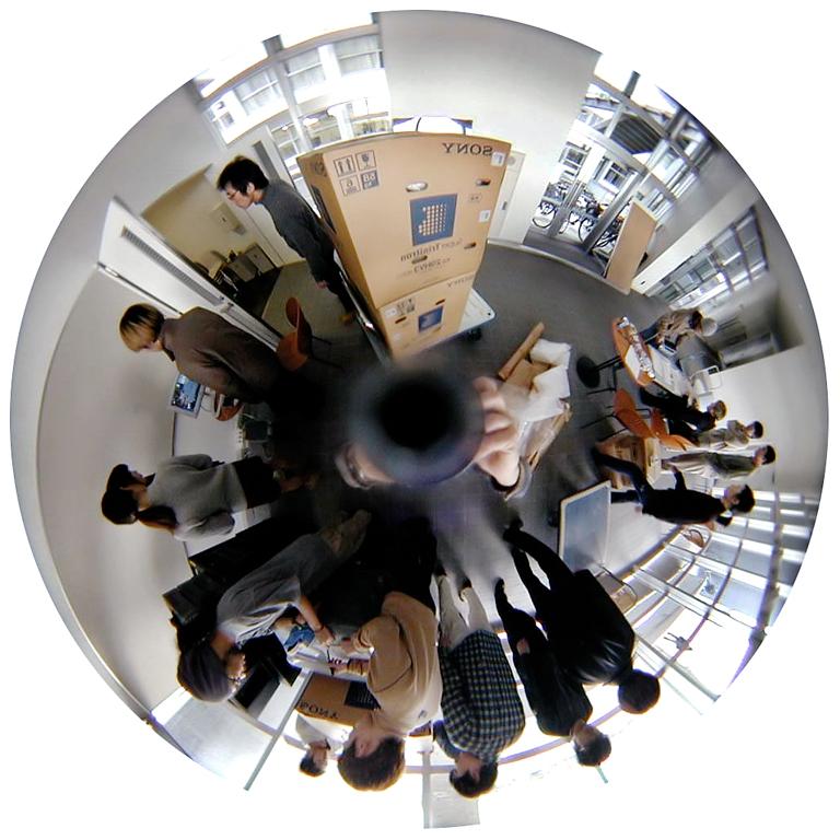 Luc Courchesne, 01 / 02 / 19 2 – Ogaki City, 2000-2001, de la série Journal panoscopique, photographies numériques, 25 cm de diameter. © Luc Courchesne