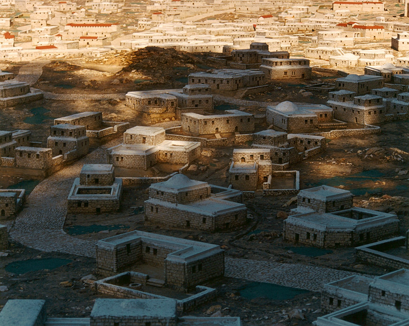 Arni Haraldsson, Model of Ancient Jerusalem, Holy Land Hotel, West Jerusalem, 1997-2000, colour print, 61 x 71 cm © Arni Haraldsson