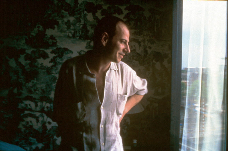 Nan Goldin, Éric at my window, Hotel Amstel, Amsterdam, 1997, color print. © Nan Goldin