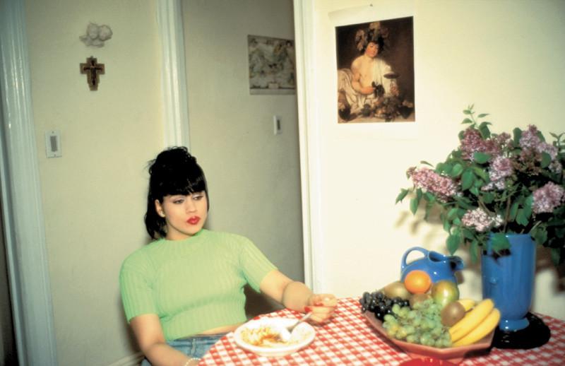 Nan Goldin, Gina at Bruce's Dinner Party, NYC, 1991, color print. © Nan Goldin